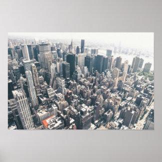 Rascacielos y tejados de New York City Posters