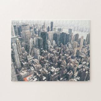 Rascacielos y tejados de New York City Puzzle