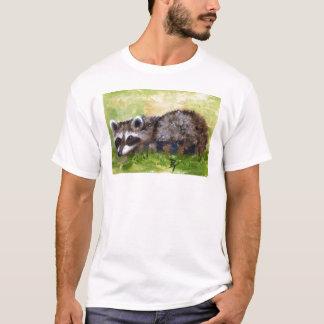 Rascal aceo Raccoon Adult Tshirt