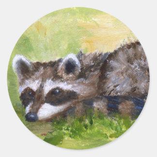 Rascal aceo Raccoon Sticker