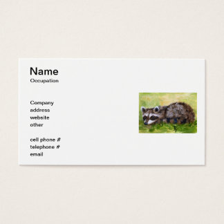 Rascal aceo Racoon Business Cards