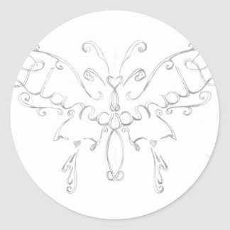 Rascal Nistas Butterfly Classic Round Sticker