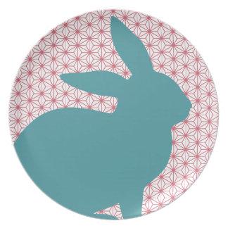 Rascal Rabbit Melamine Plate