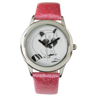 Rascally Raccoon Wrist Watches