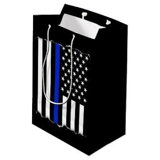 Rasgado hacia fuera limpie la bandera americana bolsa de regalo mediana