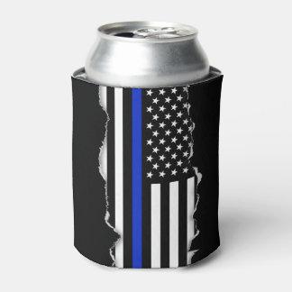 Rasgado hacia fuera mire la bandera americana fina enfriador de latas