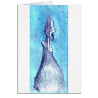 Rasgado por el cielo azul tarjeta de felicitación