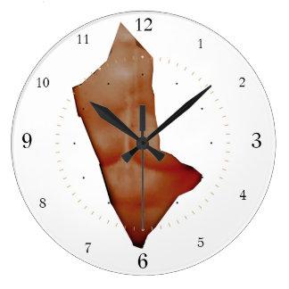 rasgado reloj redondo grande