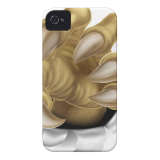 Rasgadura de la garra del monstruo iPhone 4 Case-Mate carcasa