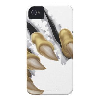 Rasgadura de la mano de la garra del monstruo iPhone 4 Case-Mate cárcasas