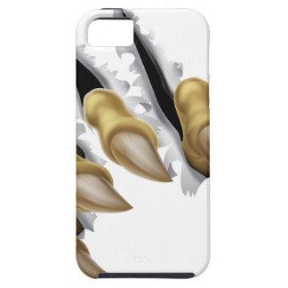 Rasgadura de la mano de la garra del monstruo iPhone 5 carcasas
