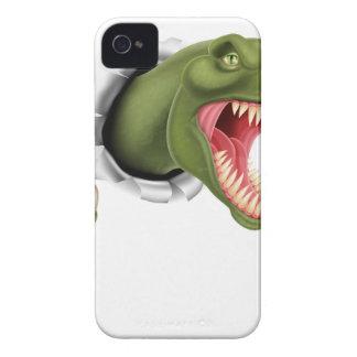 Rasgadura de las garras del dinosaurio de T Rex iPhone 4 Carcasa