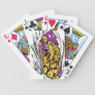 Rasgadura enojada del tigre baraja de cartas bicycle