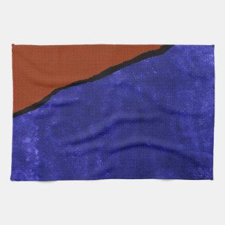Rasgón azul y anaranjado sucio toallas