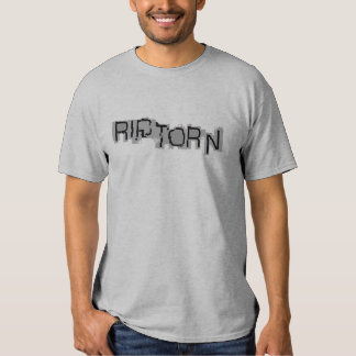 RASGÓN \ camiseta RASGADA del Dos-fer del logotipo Poleras