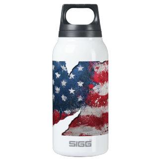 Rasgón de la bandera de los E.E.U.U. Botella Isotérmica De Agua