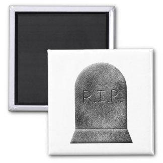Rasgón de la lápida mortuaria de Halloween Imán Cuadrado