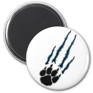 Rasgón de la pata de oso imán redondo 5 cm