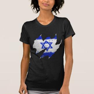 Rasgón de la pintada de la bandera de Israel Playeras