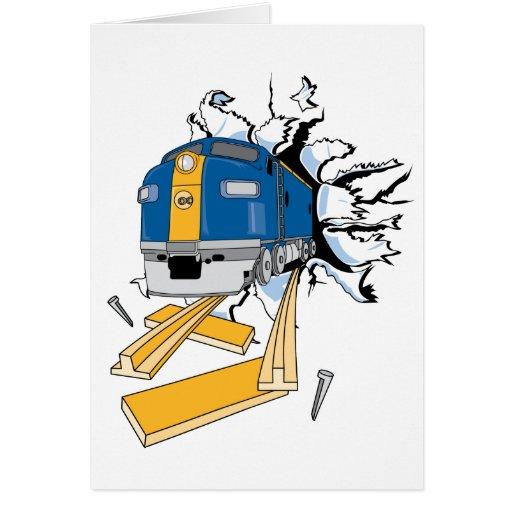 Rasgón del tren tarjeta de felicitación