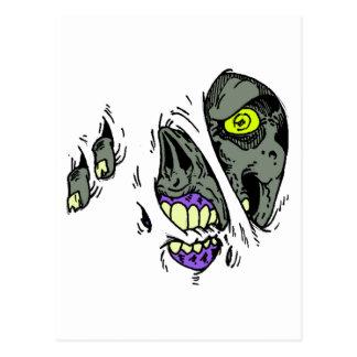 Rasgón del zombi con diseño tarjeta postal