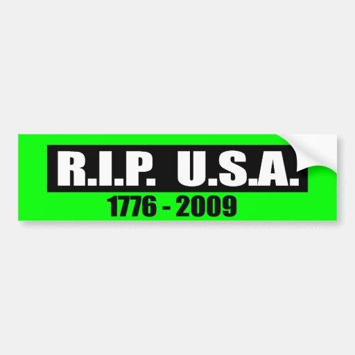RASGÓN LOS E.E.U.U. - 1776 A 2009 ETIQUETA DE PARACHOQUE