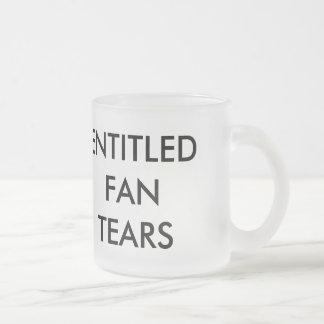 Rasgones dados derecho de la fan taza cristal mate