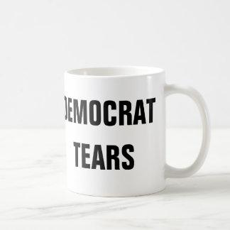 Rasgones de Demócrata Taza De Café