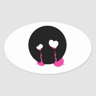Rasgones de Emo Calcomanías Ovales Personalizadas