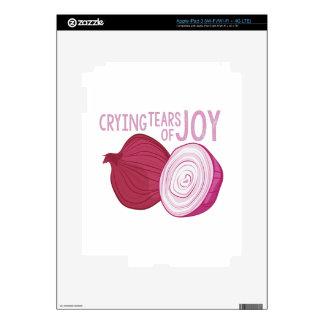 Rasgones de la alegría iPad 3 pegatina skin