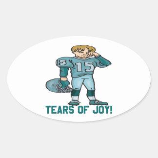 Rasgones de la alegría pegatina ovalada