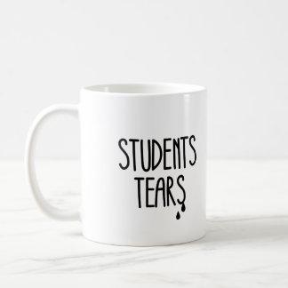 Rasgones de los estudiantes taza básica blanca