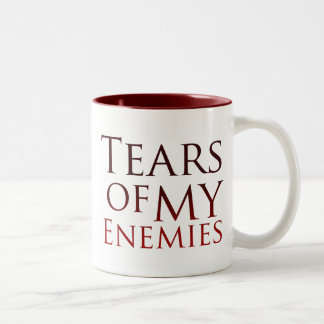 Rasgones de mis enemigos taza de café de dos colores