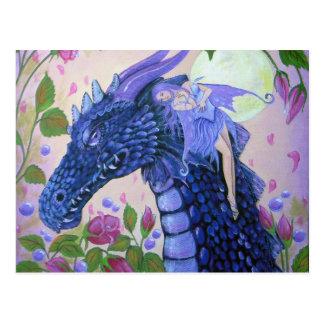 Rasgones del dragón del artista Lorri Karels de la Postales