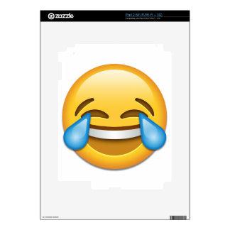 Rasgones del emoji de la alegría divertidos iPad 2 skins