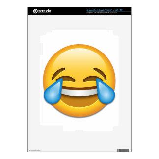 Rasgones del emoji de la alegría divertidos pegatina skin para iPad 3