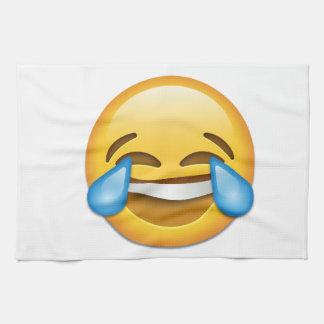 Rasgones del emoji de la alegría divertidos toalla de cocina