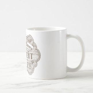 Rasgones del estudiante del profesor taza de café