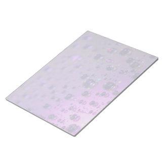 Rasgones púrpuras del dolor crónico bloc de papel