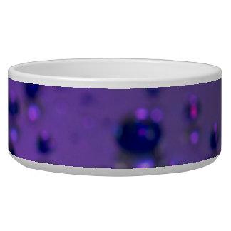 Rasgones púrpuras del dolor crónico tazones para perrros