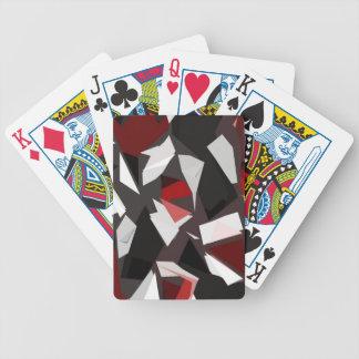 Rasgones transparentes del papel cartas de juego