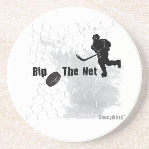 Rasgue el hockey neto posavasos cerveza