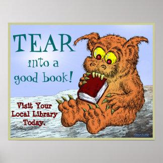 ¡RASGUE en un buen libro! Póster