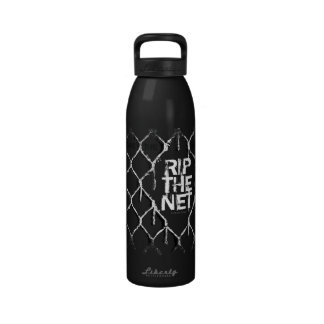 Rasgue la red botella de agua reutilizable