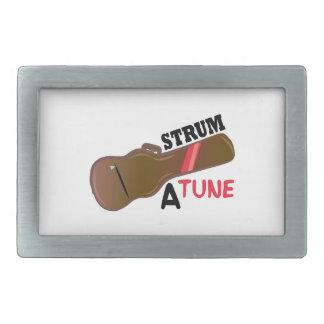Rasguee un tono hebillas cinturón rectangulares