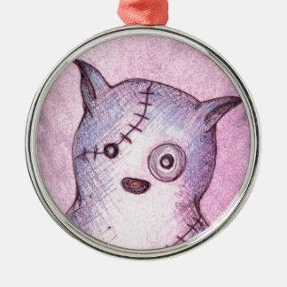 Rasguña el gato adorable del búho ornamento para arbol de navidad