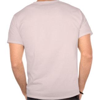 Rasguñe mi carta trasera camiseta