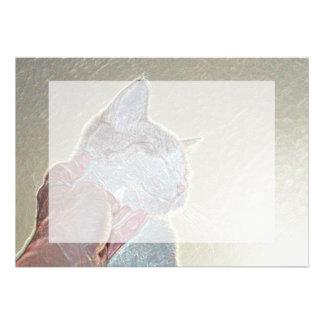 rasguño de gato debajo del mascota felino animal comunicados personalizados
