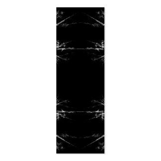 Rasguño eléctrico Fractal negro blanco Art Plantillas De Tarjetas Personales