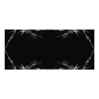 Rasguño eléctrico Fractal negro blanco Art Diseño De Tarjeta Publicitaria